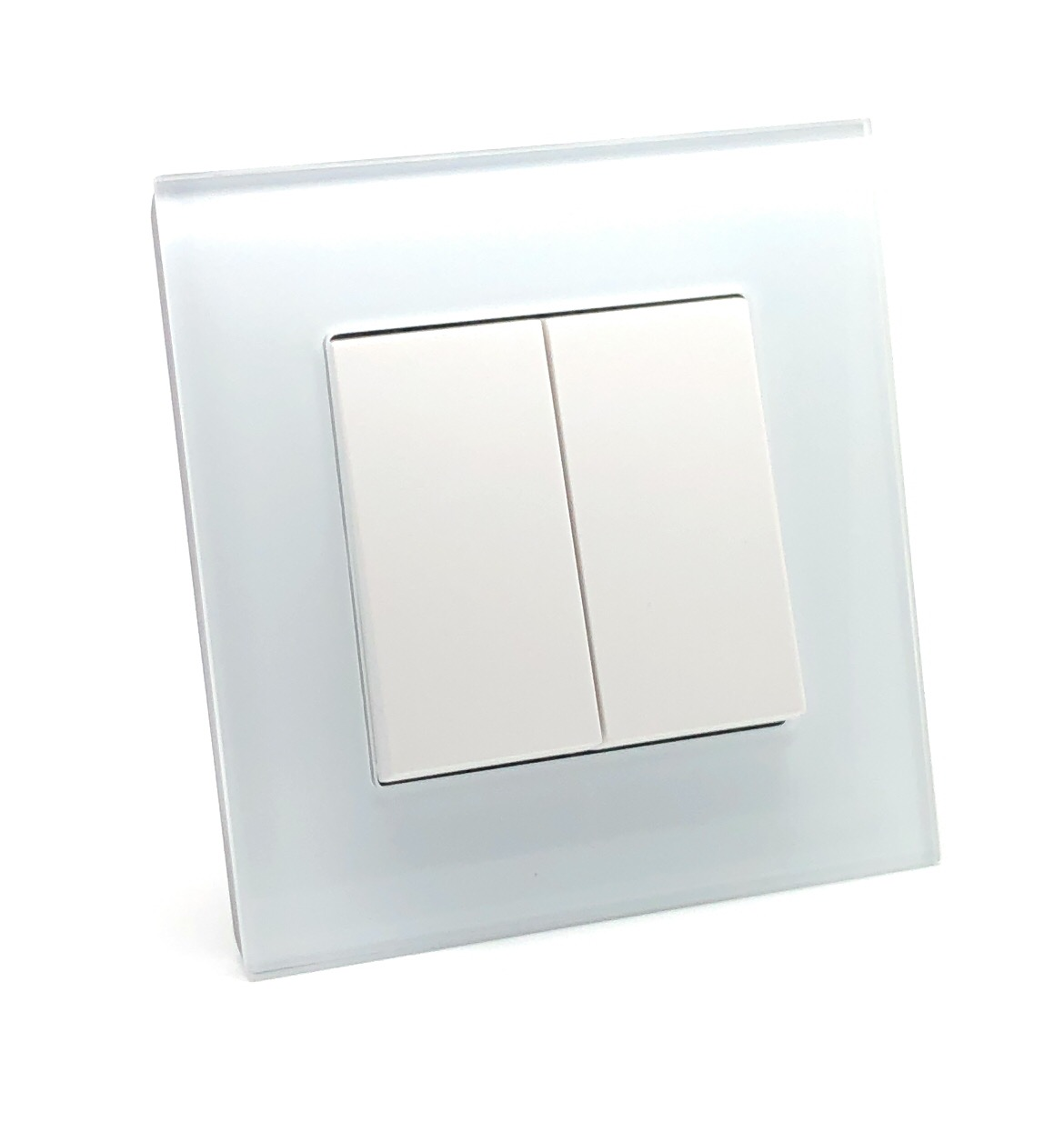 Illucio 2 Gang 1 or 2 Way 10 Amp On/Off Rocker Light Switch White