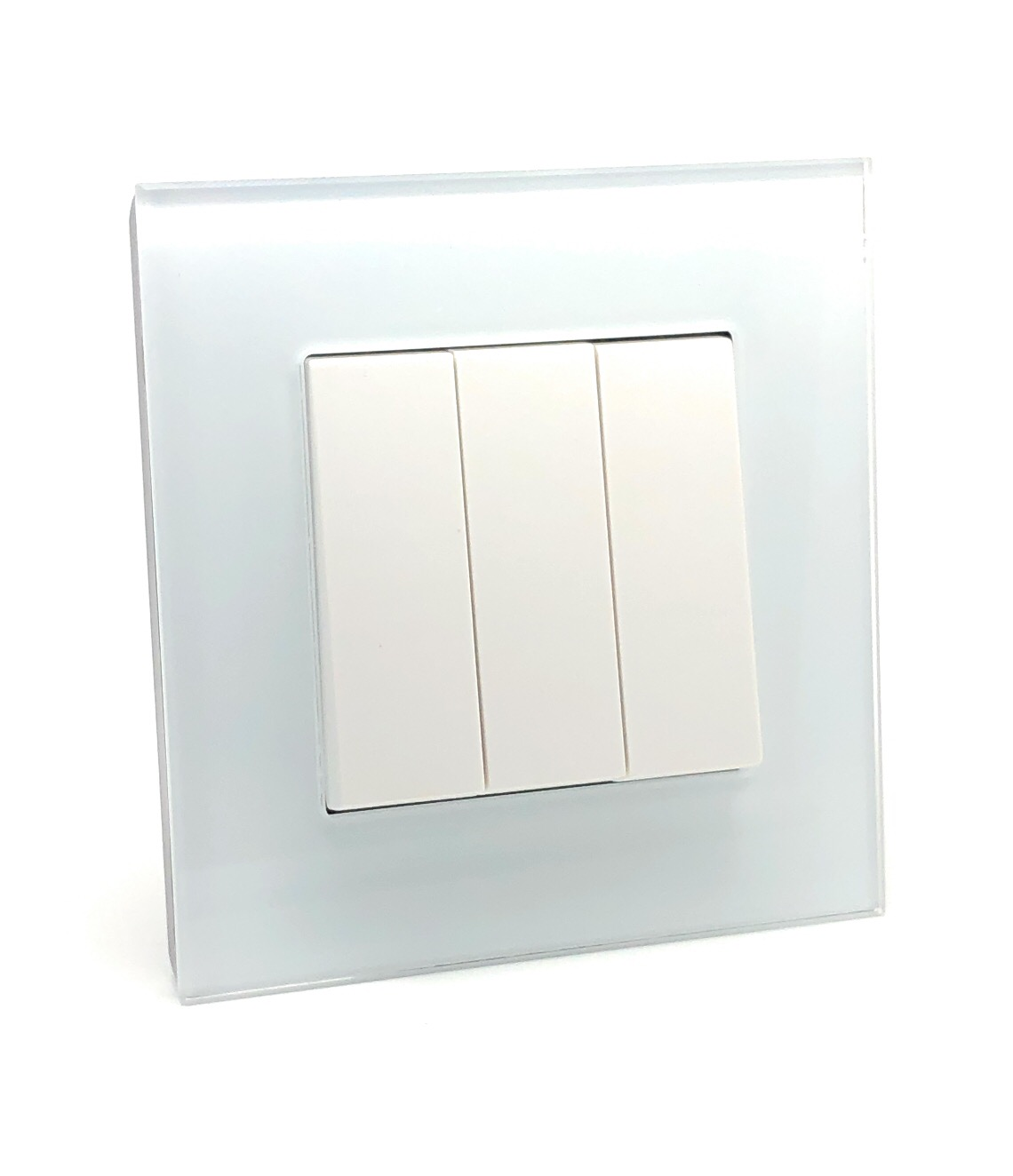 Illucio 3 Gang 1 or 2 Way 10 Amp On/Off Rocker Light Switch White
