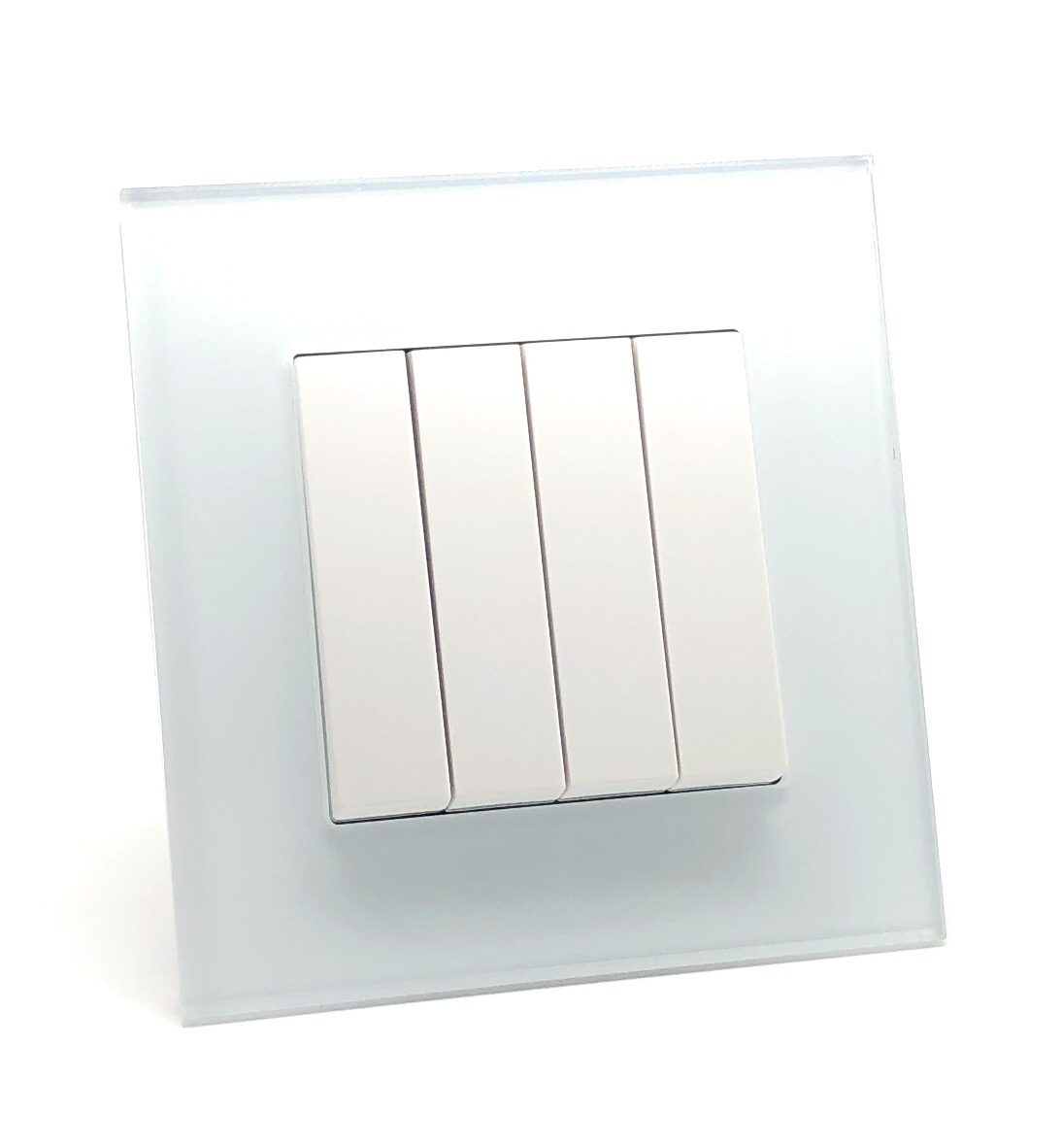 illucio 4 Gang 1 or 2 Way 10 Amp Rocker OnOff Light Switch White